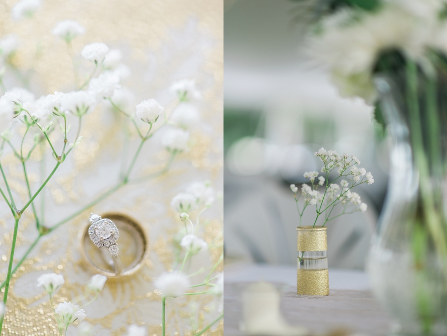 Outer Banks NC Wedding with gold embellishments