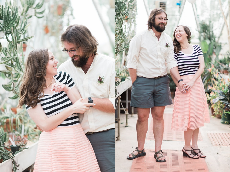 Botanical Inspired Greenhouse Engagement Session