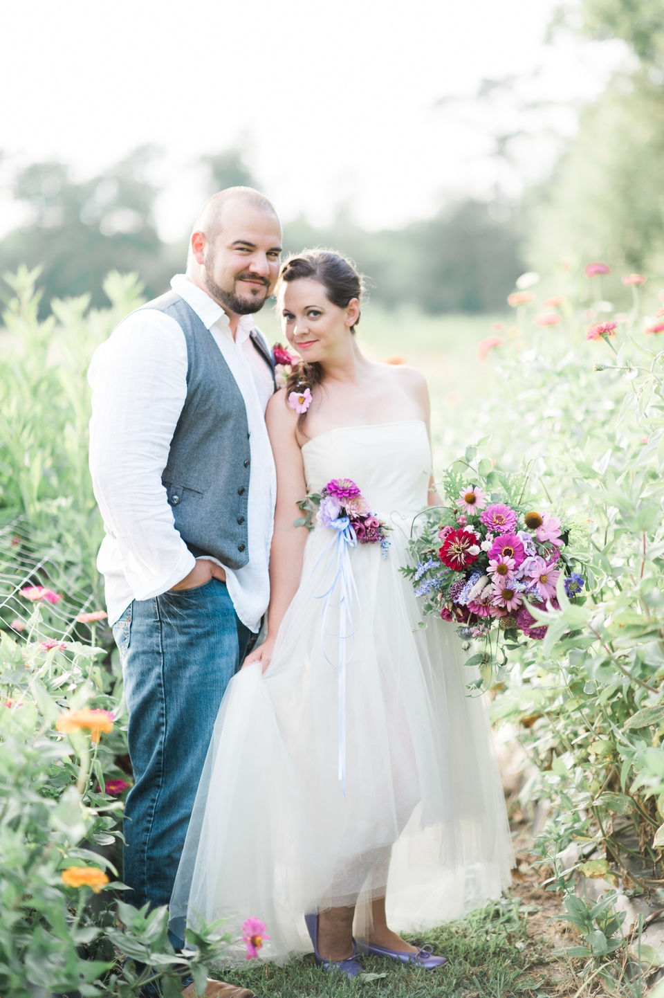 field to vase flower farm wedding inspiration