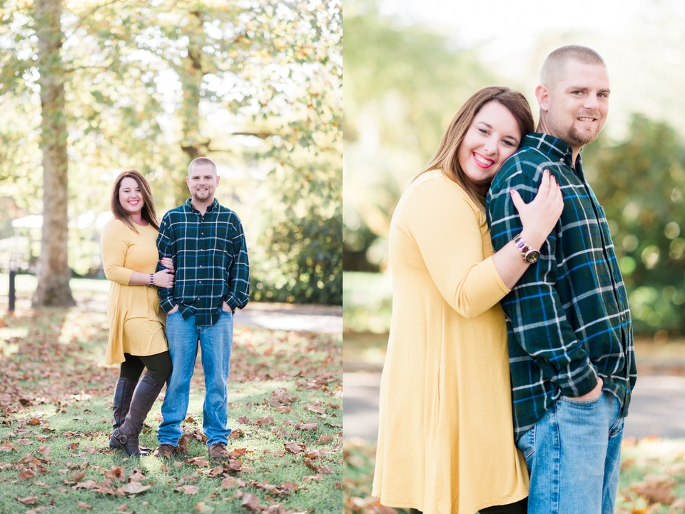 fall north carolina engagement photos
