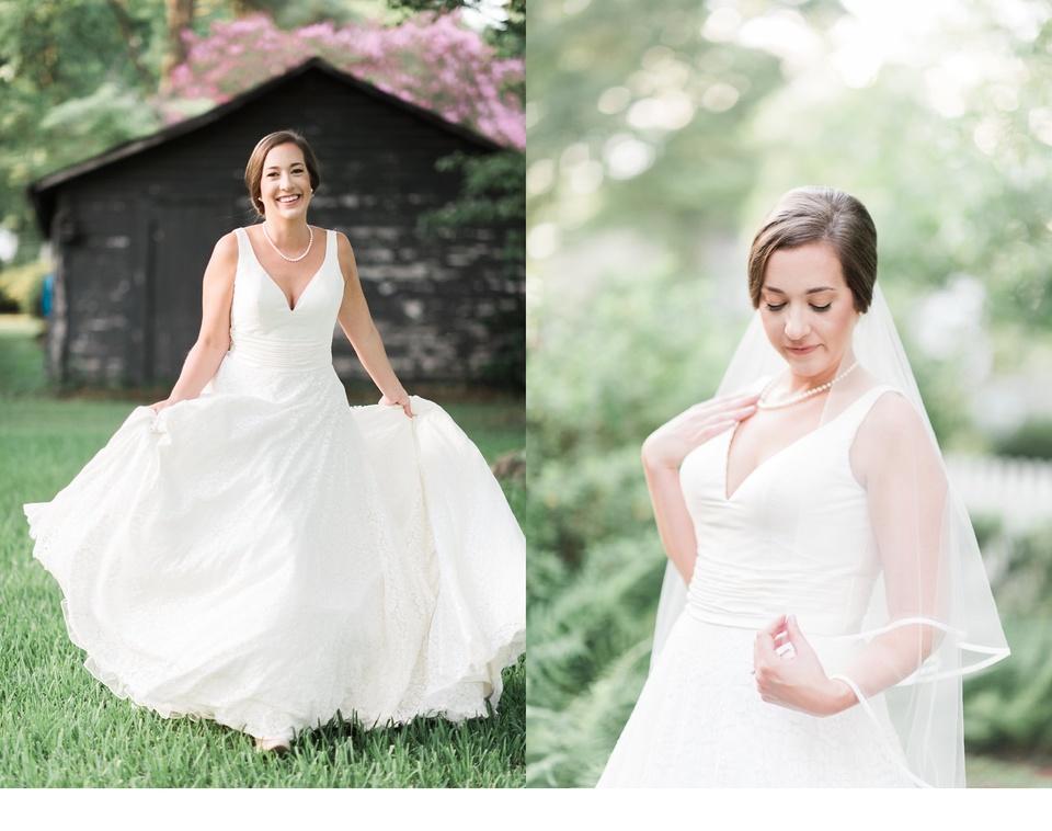 bath nc bridal portraits